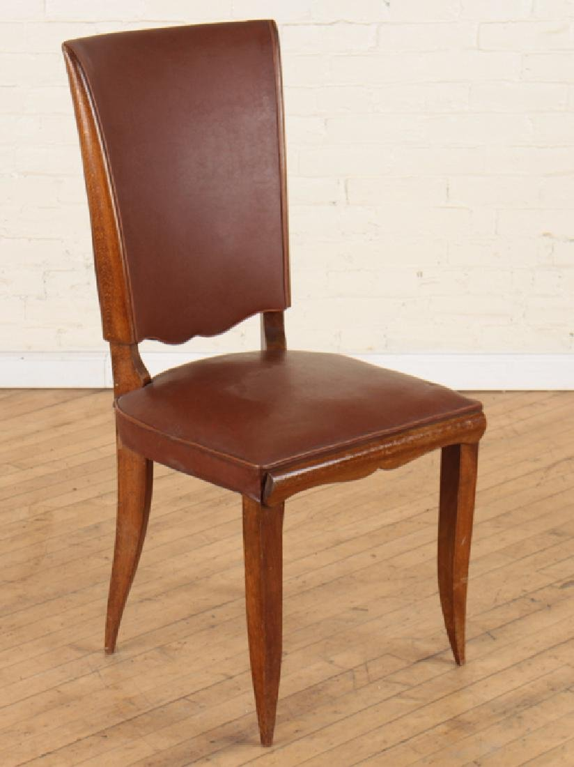 SET 6 FRENCH UPHOLSTERED MAHOGANY DINING CHAIRS - 2
