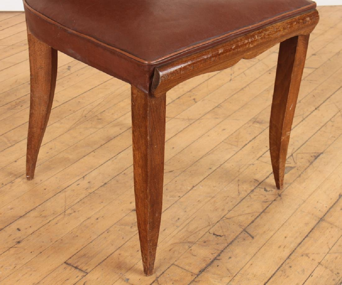 SET 6 FRENCH UPHOLSTERED MAHOGANY DINING CHAIRS - 5
