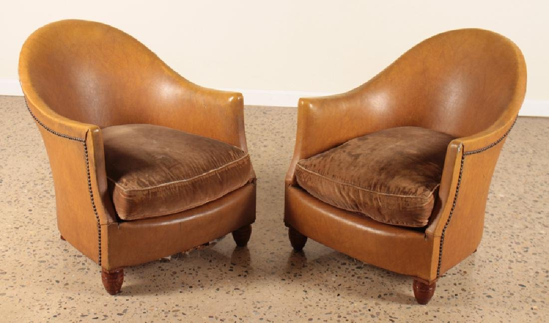 PAIR PETITE UPHOLSTERED FRENCH BOUDOIR CHAIRS