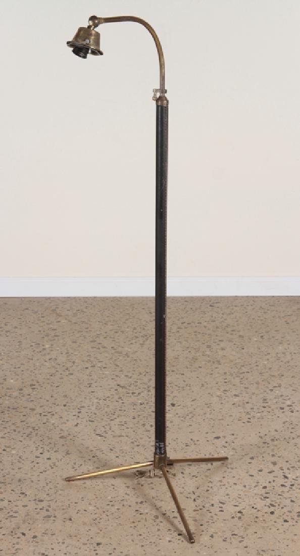 JAQUES ADNET STYLE BRONZE FLOOR LAMP C. 1940