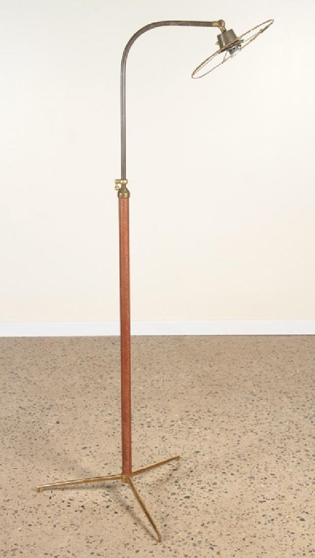 JAQUES ADNET STYLE ADJUSTABLE BRONZE FLOOR LAMP