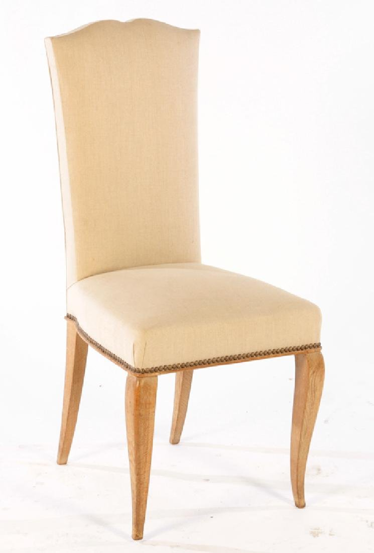 SET 6 FRENCH CERUSED OAK DINING CHAIRS C.1940 - 2