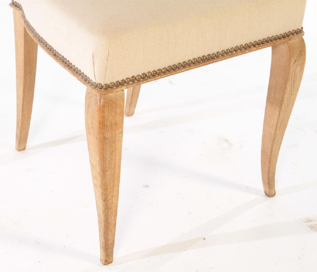SET 6 FRENCH CERUSED OAK DINING CHAIRS C.1940 - 4