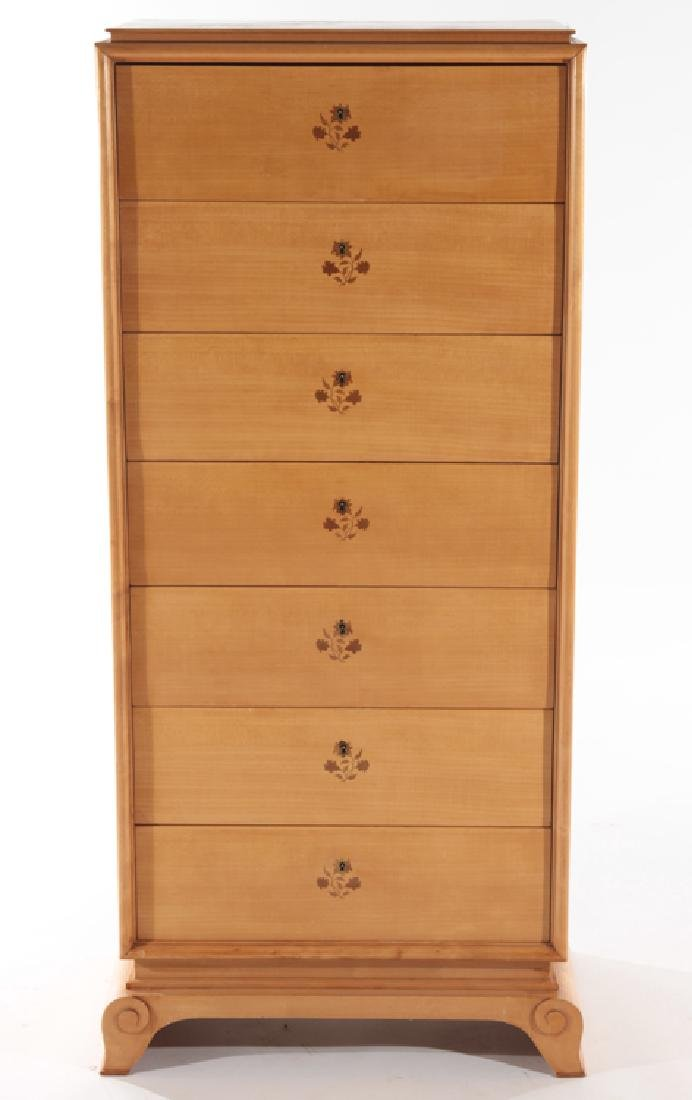 FRENCH SYCAMORE CHEST BY JEAN PASCAUD C.1930