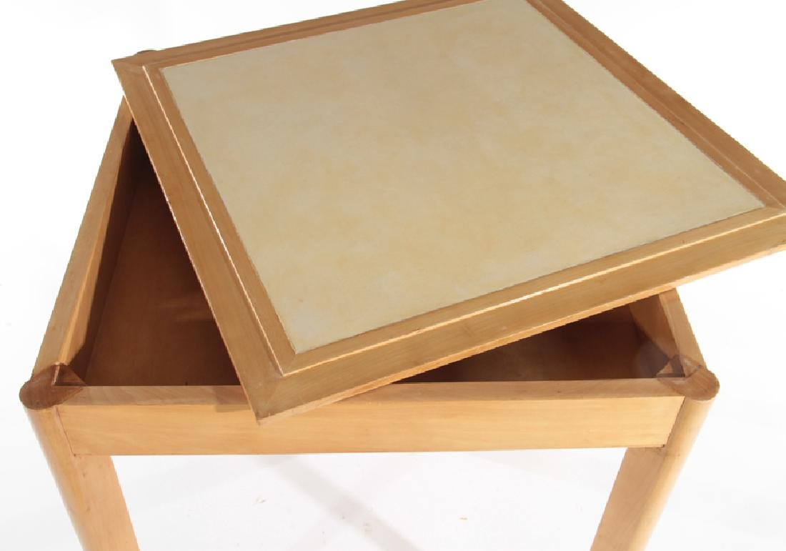 RENE PROU (ATTR.) FRENCH SYCAMORE GAMES TABLE - 3