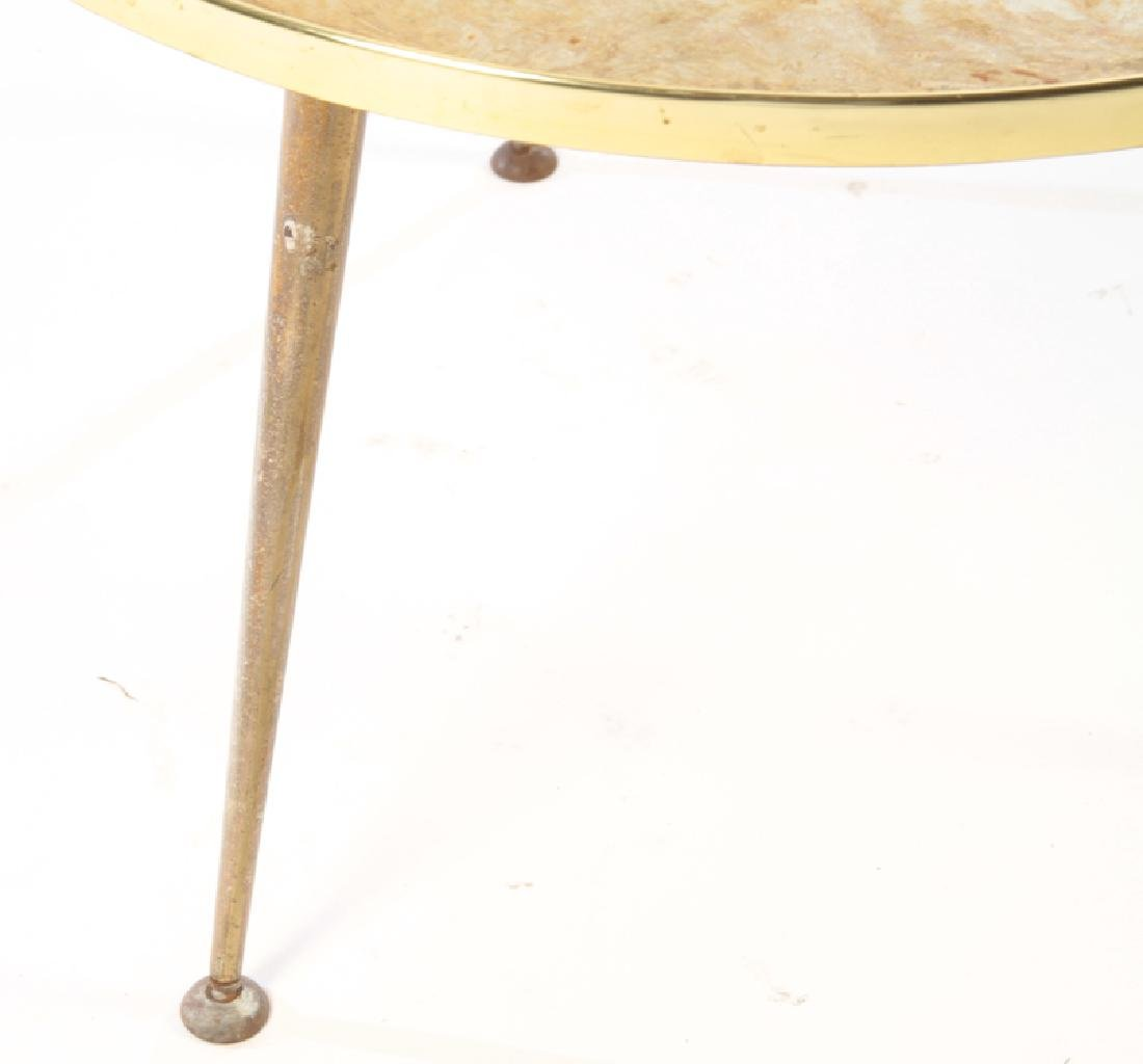 ROUND METAL OCCASIONAL TABLE EGLOMISE C.1960 - 4
