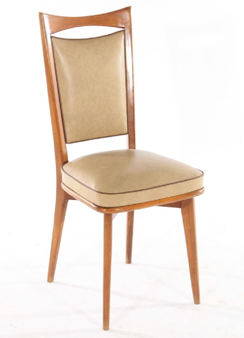 FRENCH DINING TABLE & SET OF 6 CHAIRS 1960 - 9