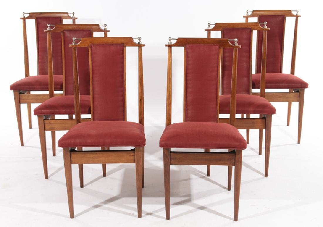 SET SIX MID CENTURY MODERN DINING CHAIRS C.1960