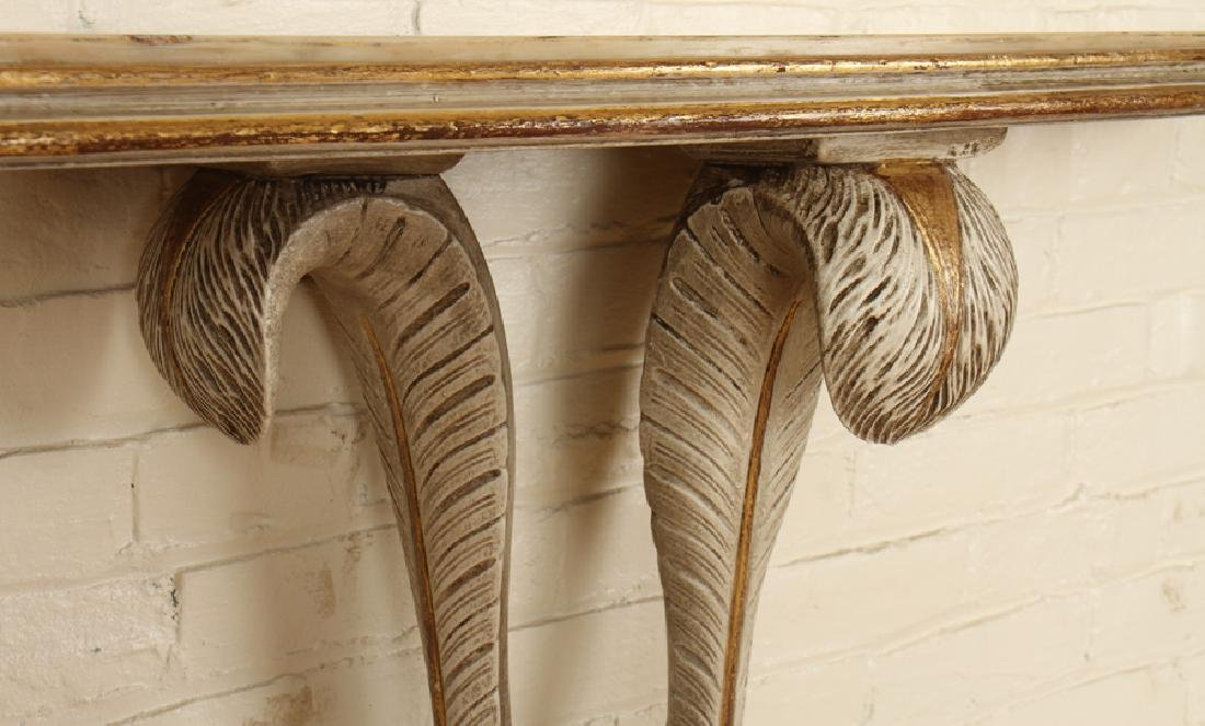PAINTED JANSEN MARBLE TOP CONSOLE TABLE C.1940 - 4
