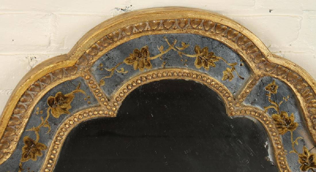 JANSEN CURVED CARVED GILT WOOD MIRROR - 2