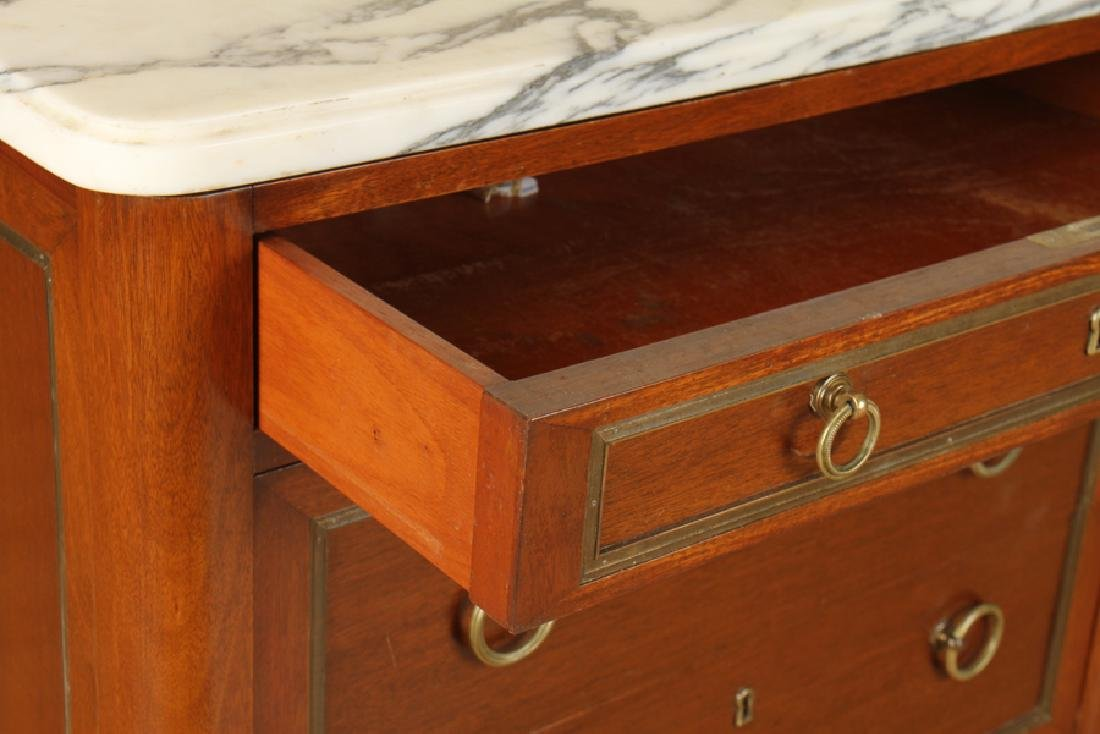 FRENCH JANSEN STYLE MARBLE TOP DOUBLE DRESSER - 4