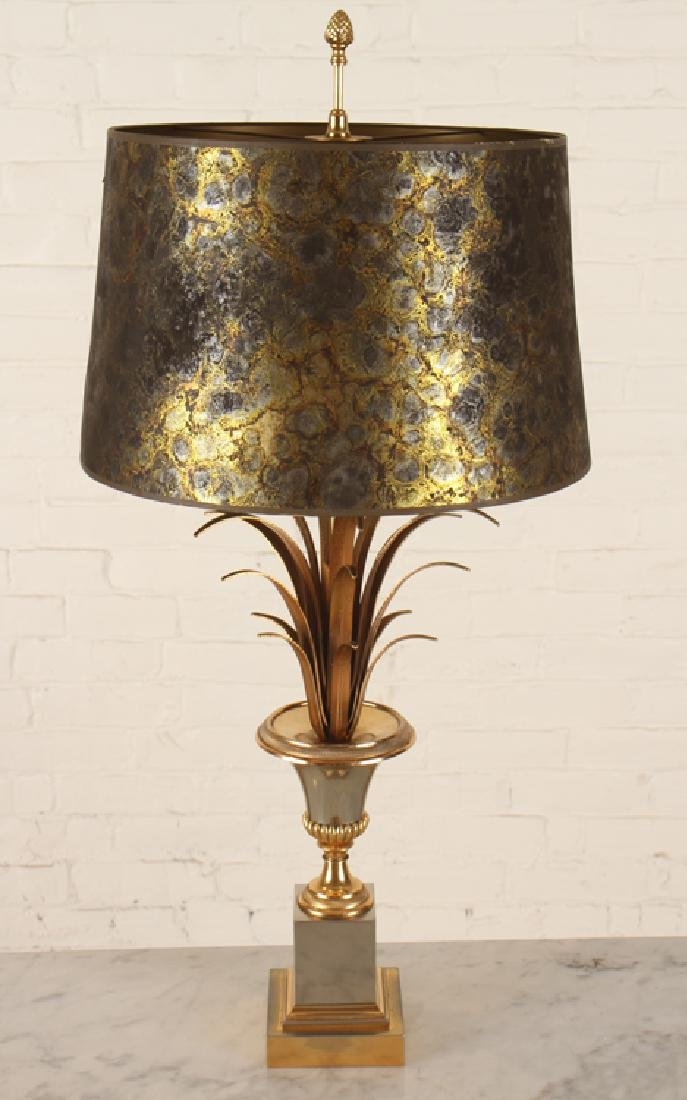 PAIR MAISON CHARLES BRASS URN FORM LAMPS C.1950 - 2