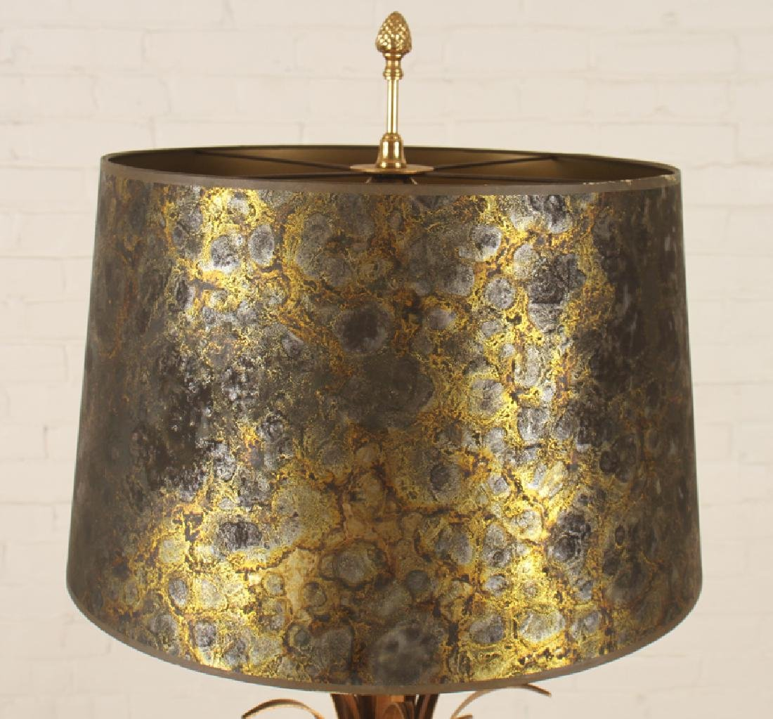 PAIR MAISON CHARLES BRASS URN FORM LAMPS C.1950 - 3