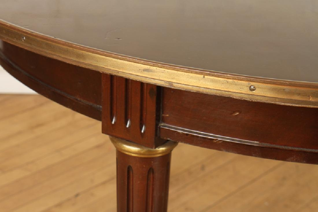 FRENCH MAHOGANY JANSEN DINING TABLE BRONZE ACCENT - 5