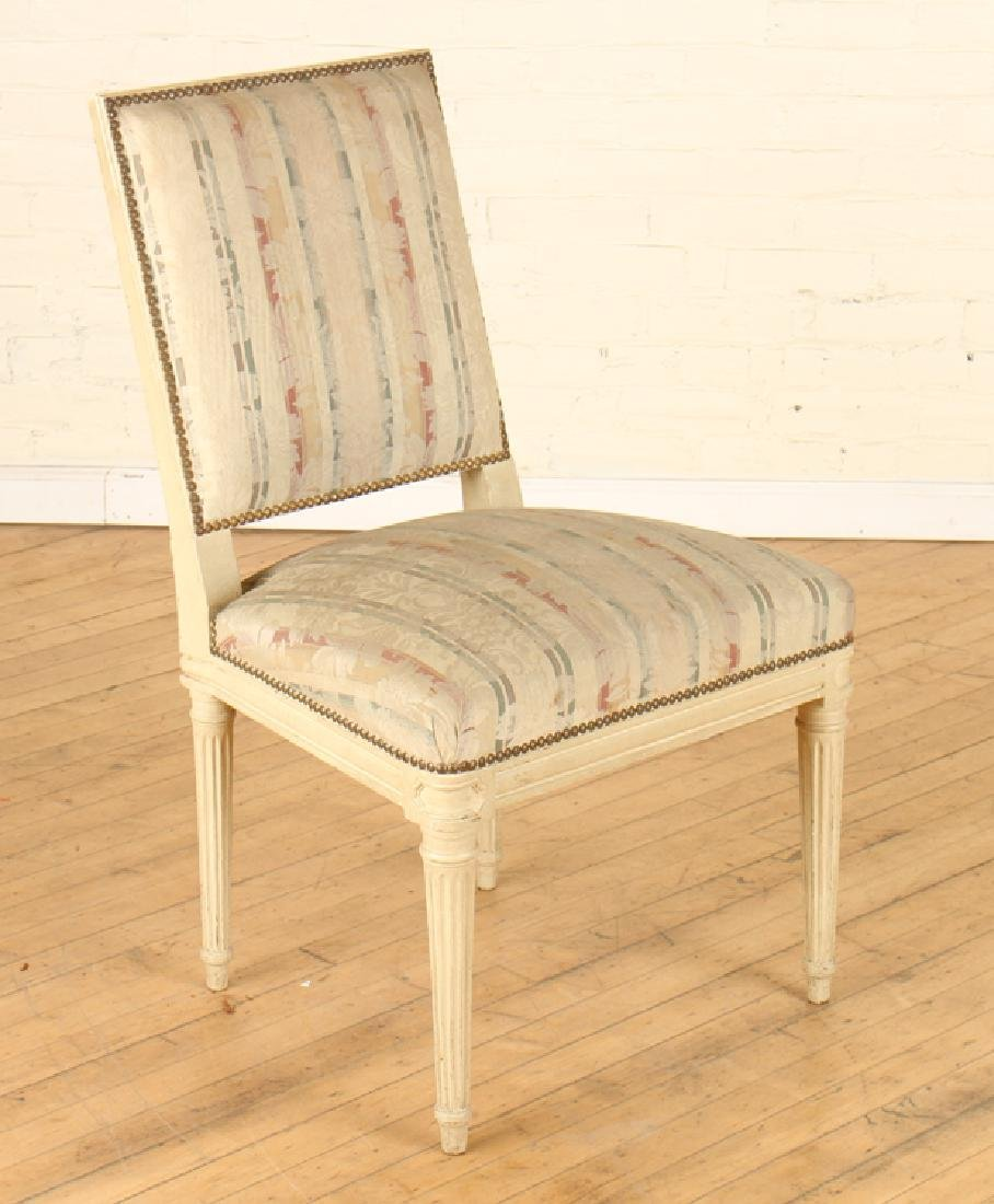 SET 10 PAINTED JANSEN DINING ROOM CHAIRS C.1940 - 2