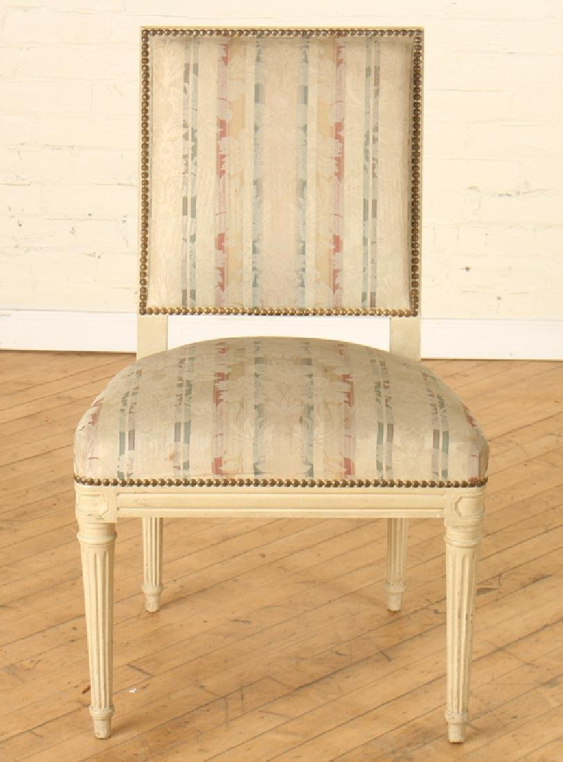 SET 10 PAINTED JANSEN DINING ROOM CHAIRS C.1940 - 3