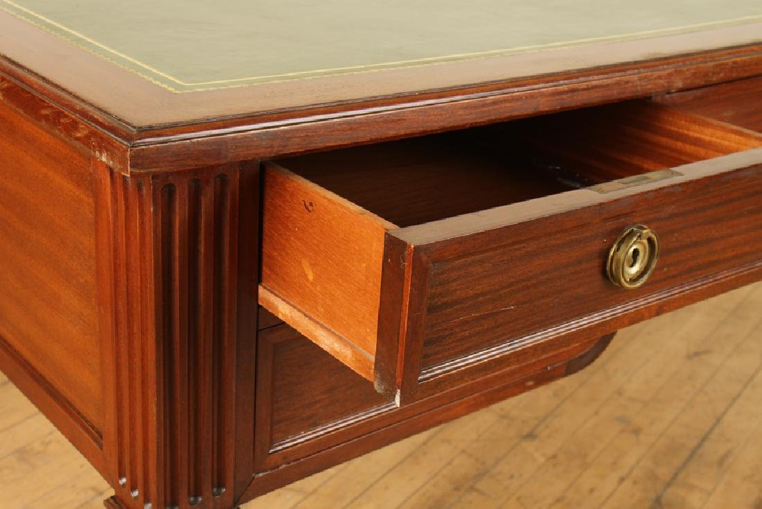 JANSEN MAHOGANY WRITING DESK WITH LEATHER TOP - 4