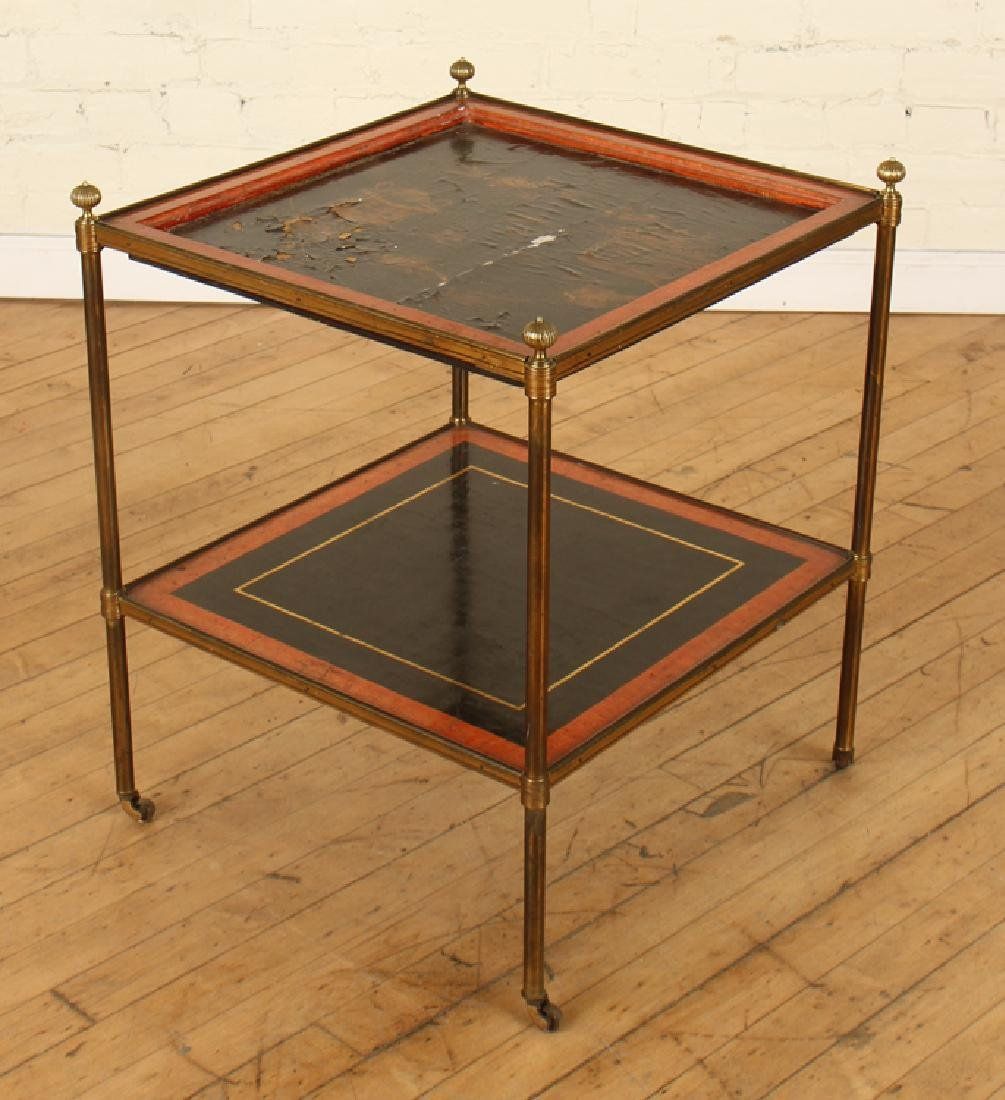 FRENCH BRASS 2 TIER SIDE TABLE BY JANSEN