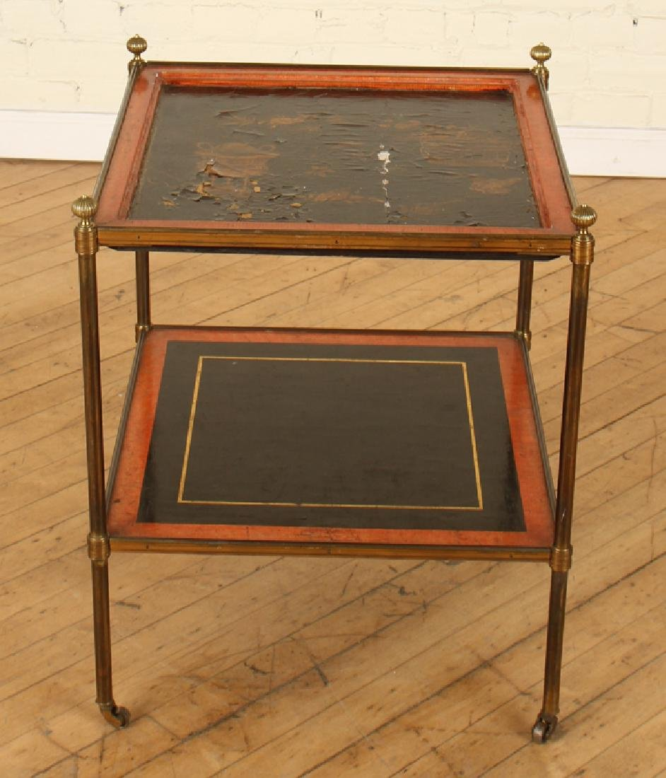 FRENCH BRASS 2 TIER SIDE TABLE BY JANSEN - 2