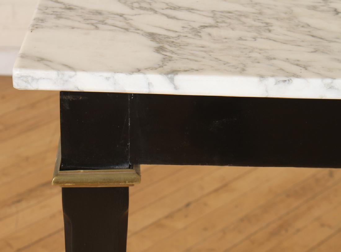 MARBLE TOP BRONZE MOUNTED EBONIZED JANSEN CONSOLE - 4