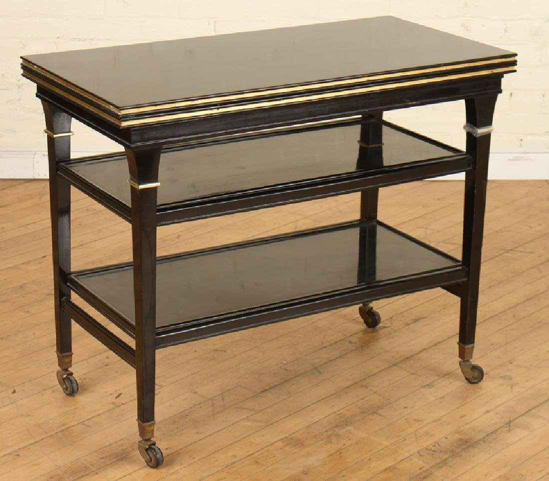 EBONIZED JANSEN METAMORPHIC DRINKS CARTS C.1940