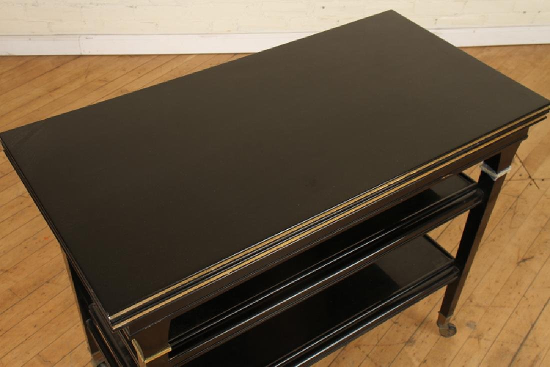 EBONIZED JANSEN METAMORPHIC DRINKS CARTS C.1940 - 2