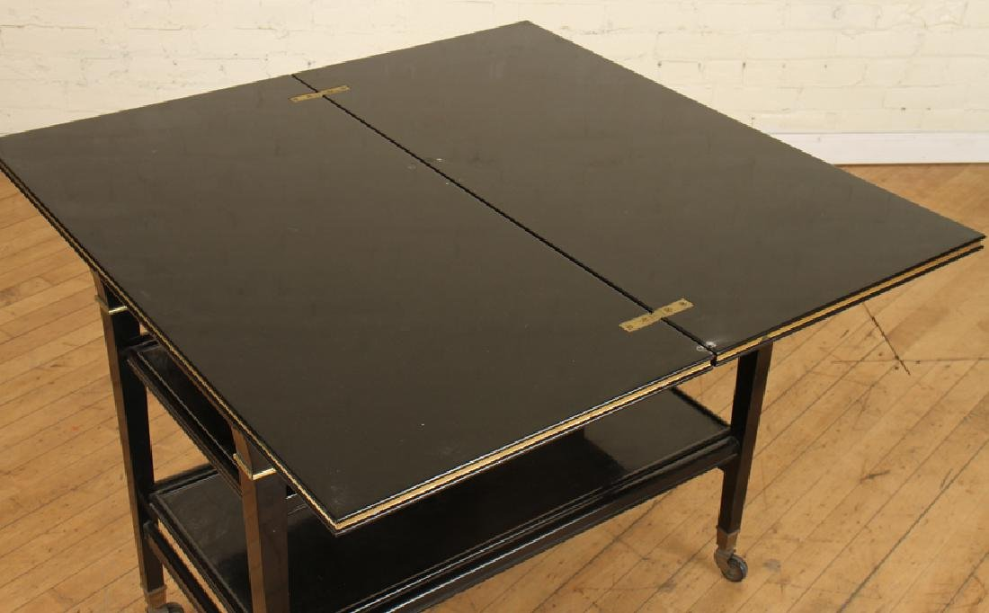 EBONIZED JANSEN METAMORPHIC DRINKS CARTS C.1940 - 3