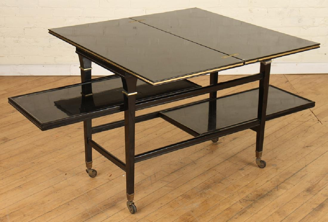 EBONIZED JANSEN METAMORPHIC DRINKS CARTS C.1940 - 4