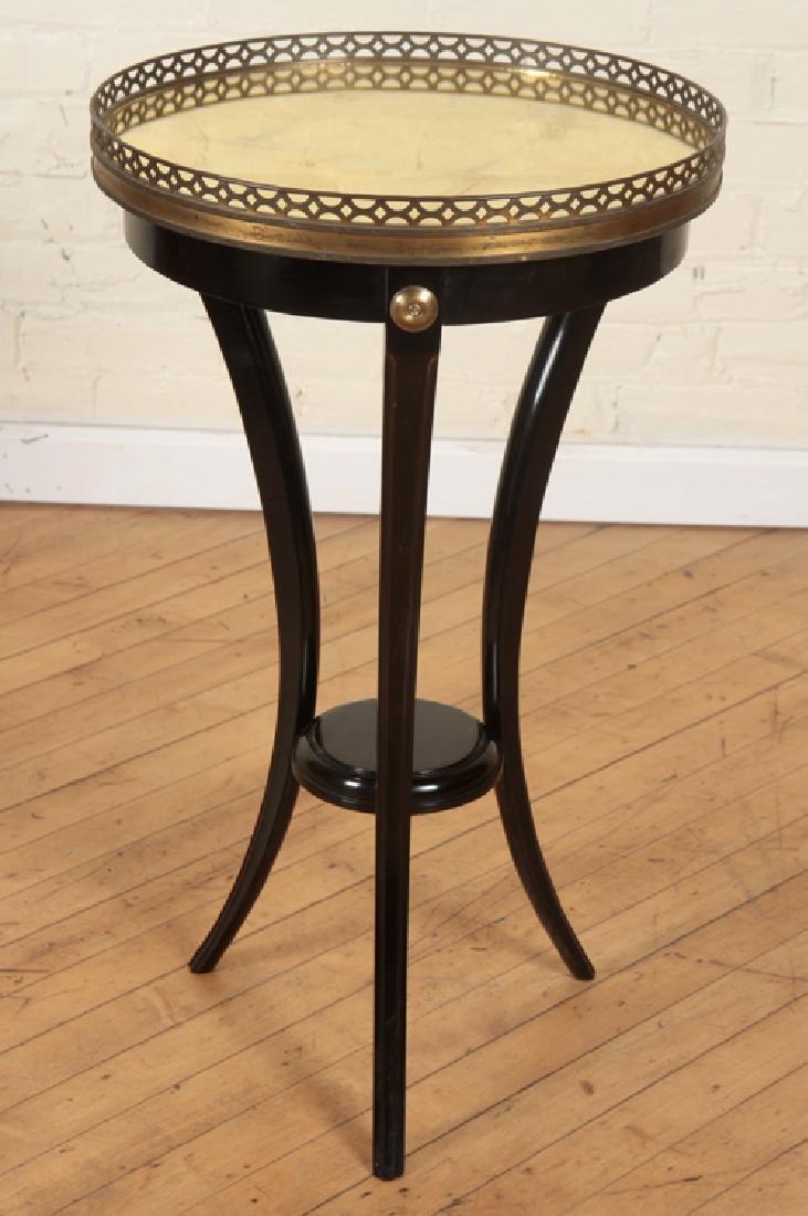 PAIR JANSEN STYLE EBONIZED SIDE TABLES C.1940 - 2