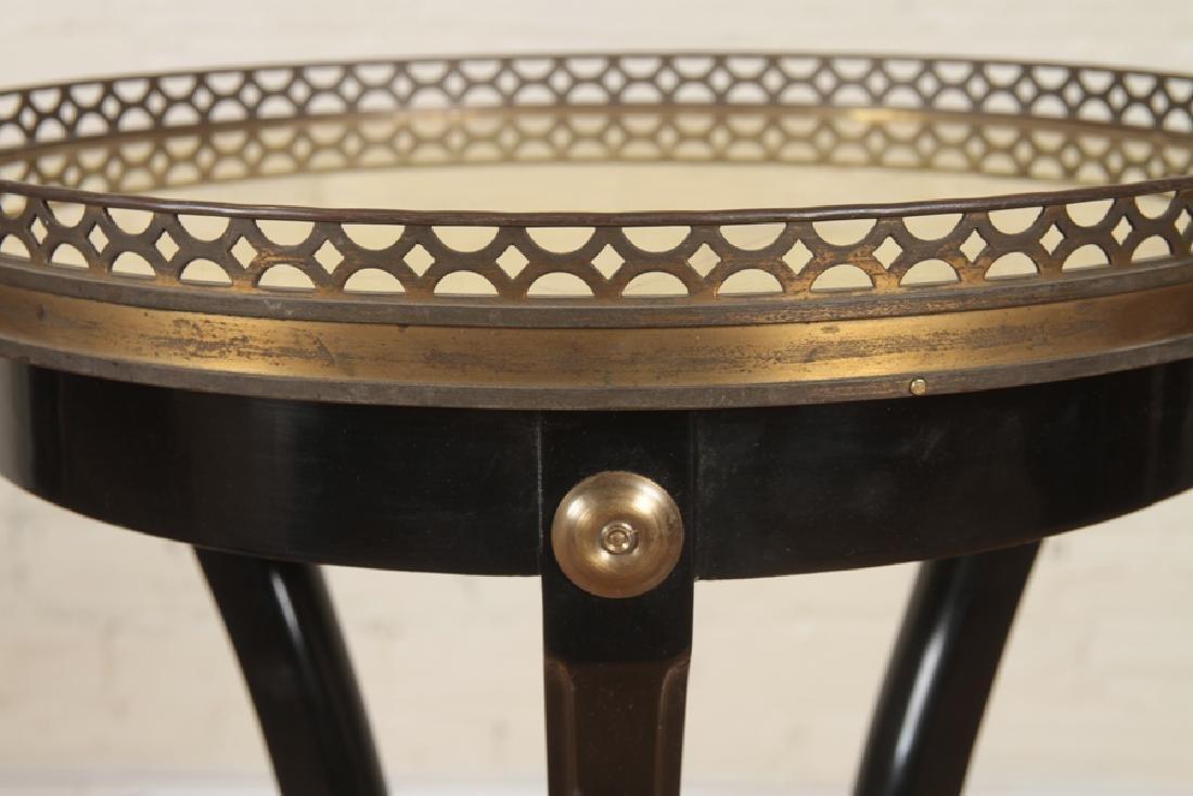 PAIR JANSEN STYLE EBONIZED SIDE TABLES C.1940 - 4
