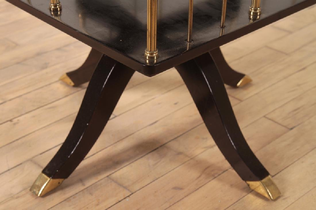 RARE PAIR EBONIZED FRENCH REVOLVING BOOKCASES - 5