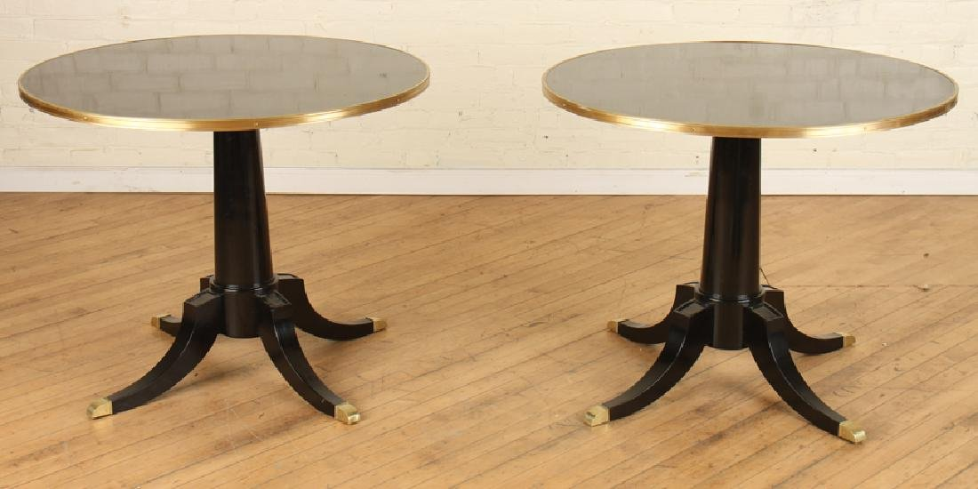 PAIR REGENCY STYLE TABLES MANNER OF JANSEN C.1950