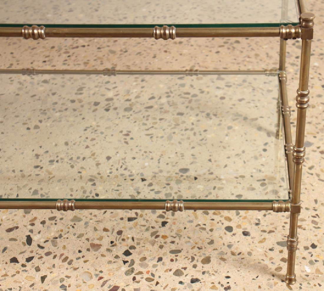 BAGUES STYLE BRONZE AND GLASS COFFEE TABLE C.1960 - 4