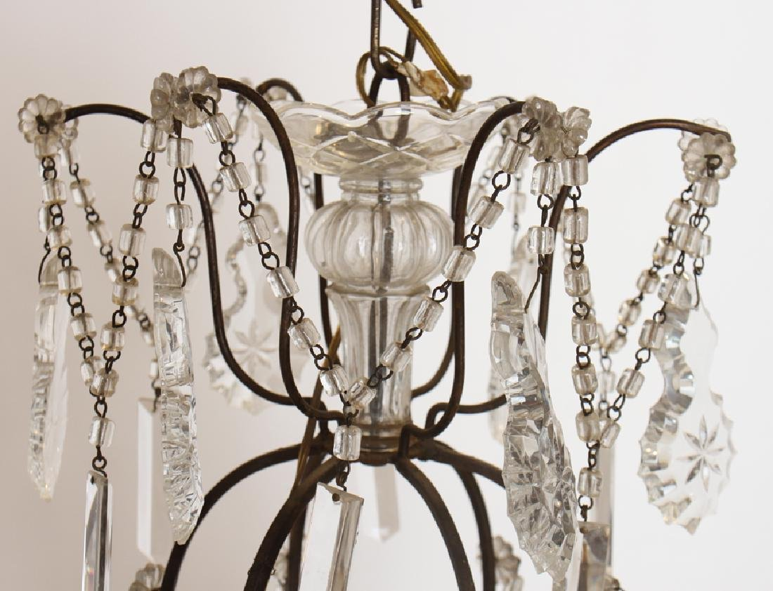ITALIAN IRON 9 LIGHT CHANDELIER CIRCA 1940 - 2