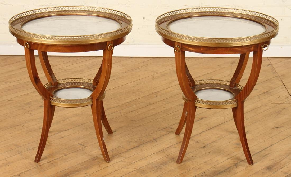 PAIR OF JANSEN MAHOGANY FRENCH GUERIDONS C.1940