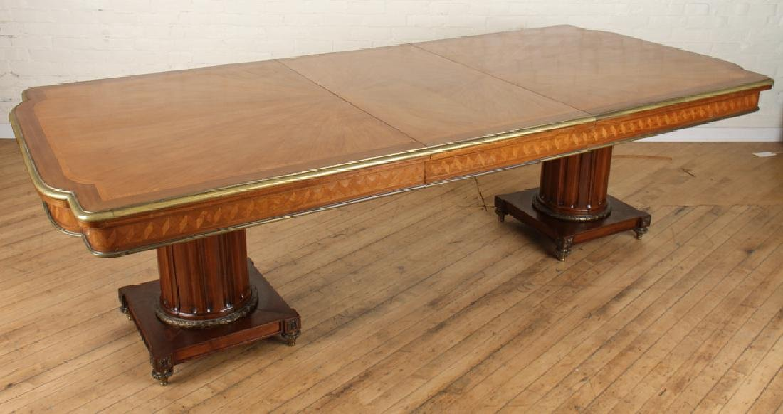 FRENCH SATINWOOD MAHOGANY DINING TABLE C.1930 - 3