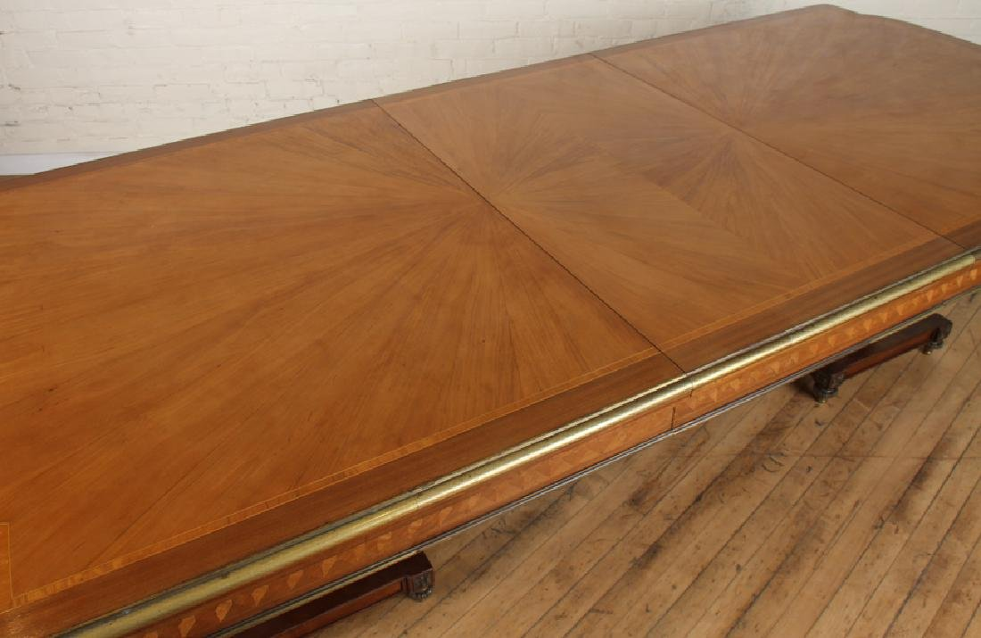 FRENCH SATINWOOD MAHOGANY DINING TABLE C.1930 - 4