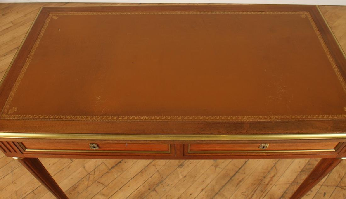 LOUIS XVI STYLE MAHOGANY LEATHER TOP DESK - 3