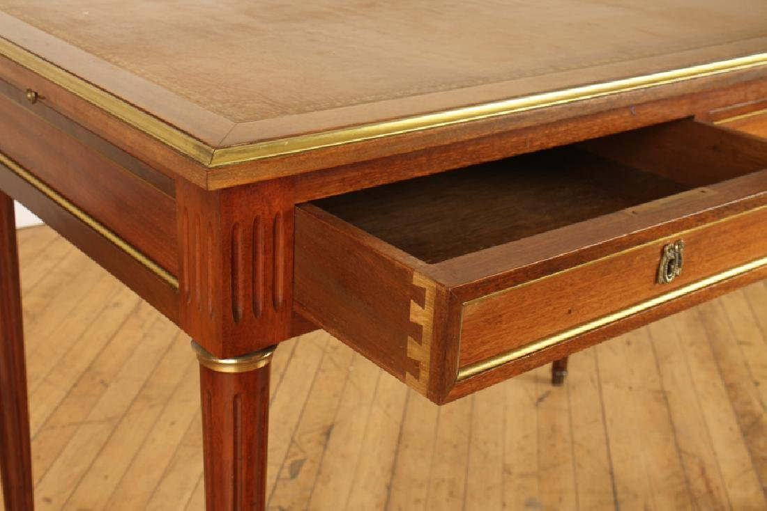 LOUIS XVI STYLE MAHOGANY LEATHER TOP DESK - 4