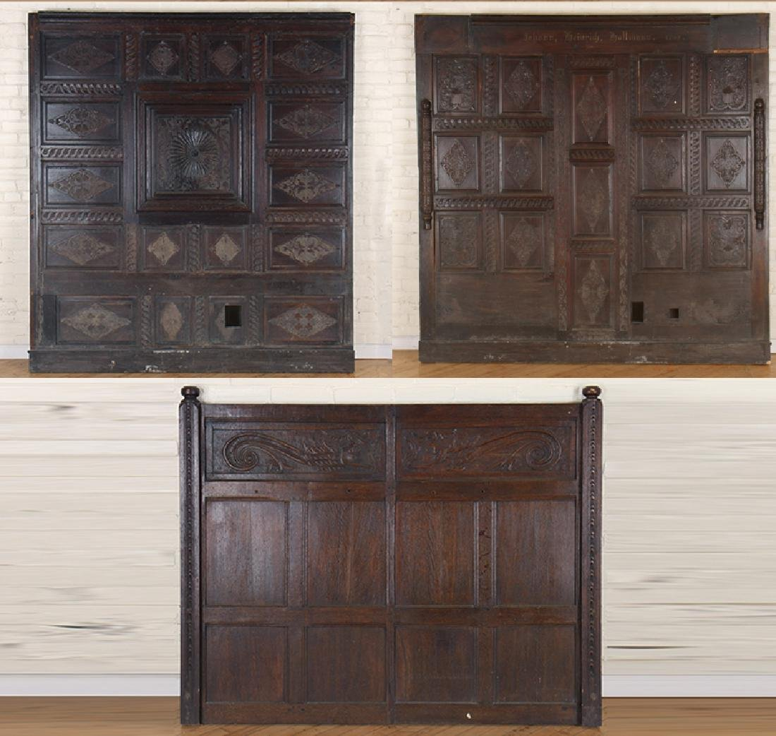 ANTIQUE CARVED OAK PANELS 18TH CENTURY