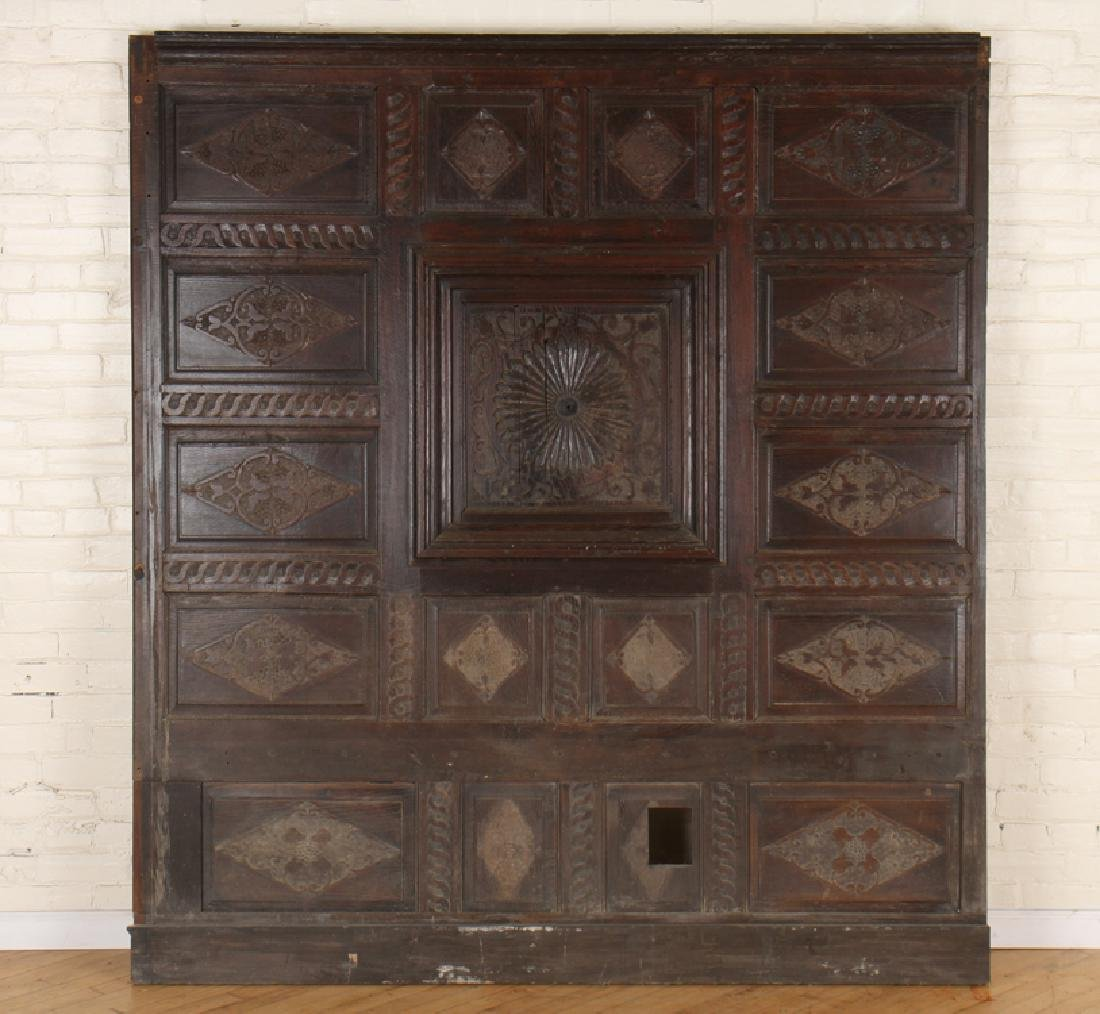 ANTIQUE CARVED OAK PANELS 18TH CENTURY - 2
