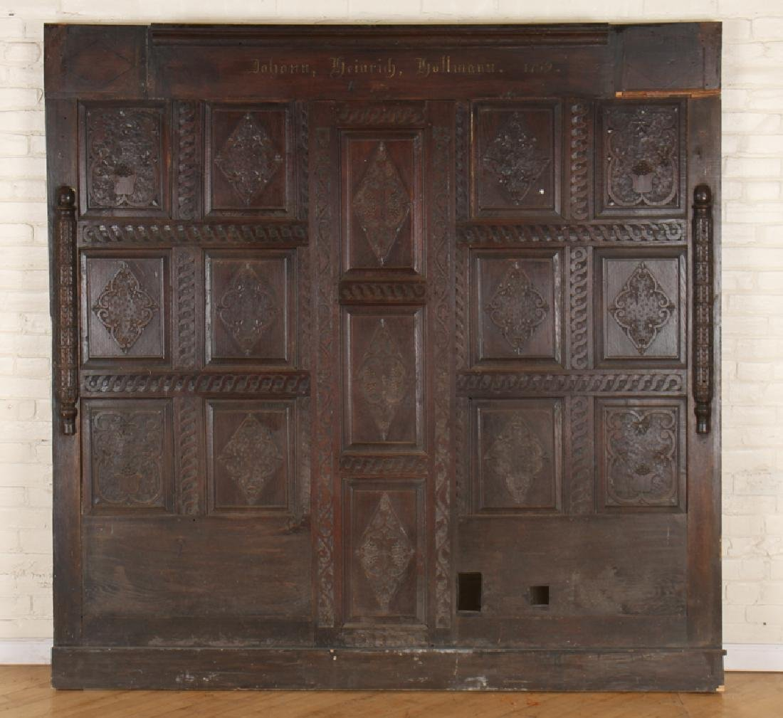 ANTIQUE CARVED OAK PANELS 18TH CENTURY - 5