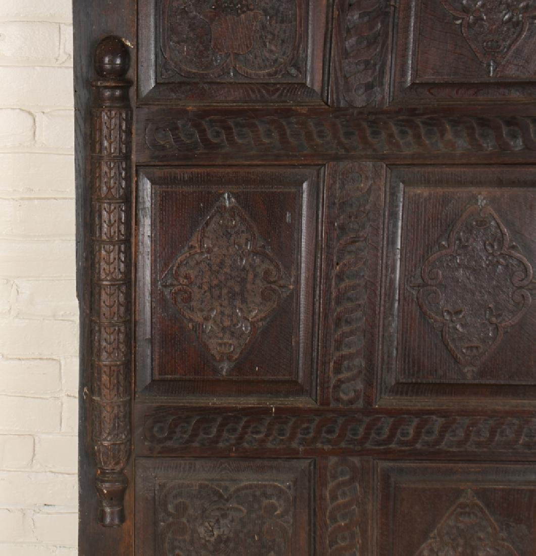 ANTIQUE CARVED OAK PANELS 18TH CENTURY - 7