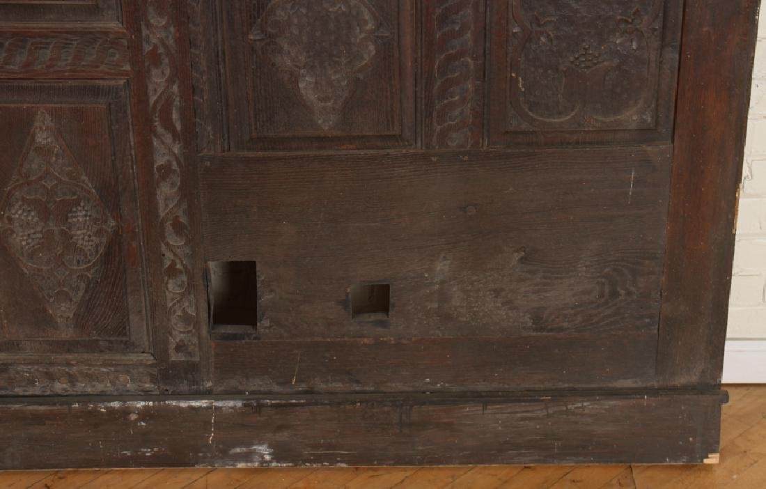 ANTIQUE CARVED OAK PANELS 18TH CENTURY - 8