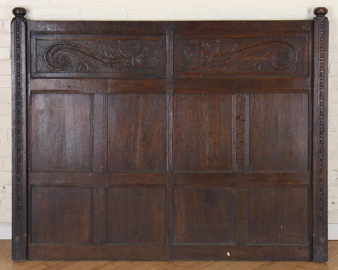 ANTIQUE CARVED OAK PANELS 18TH CENTURY - 9