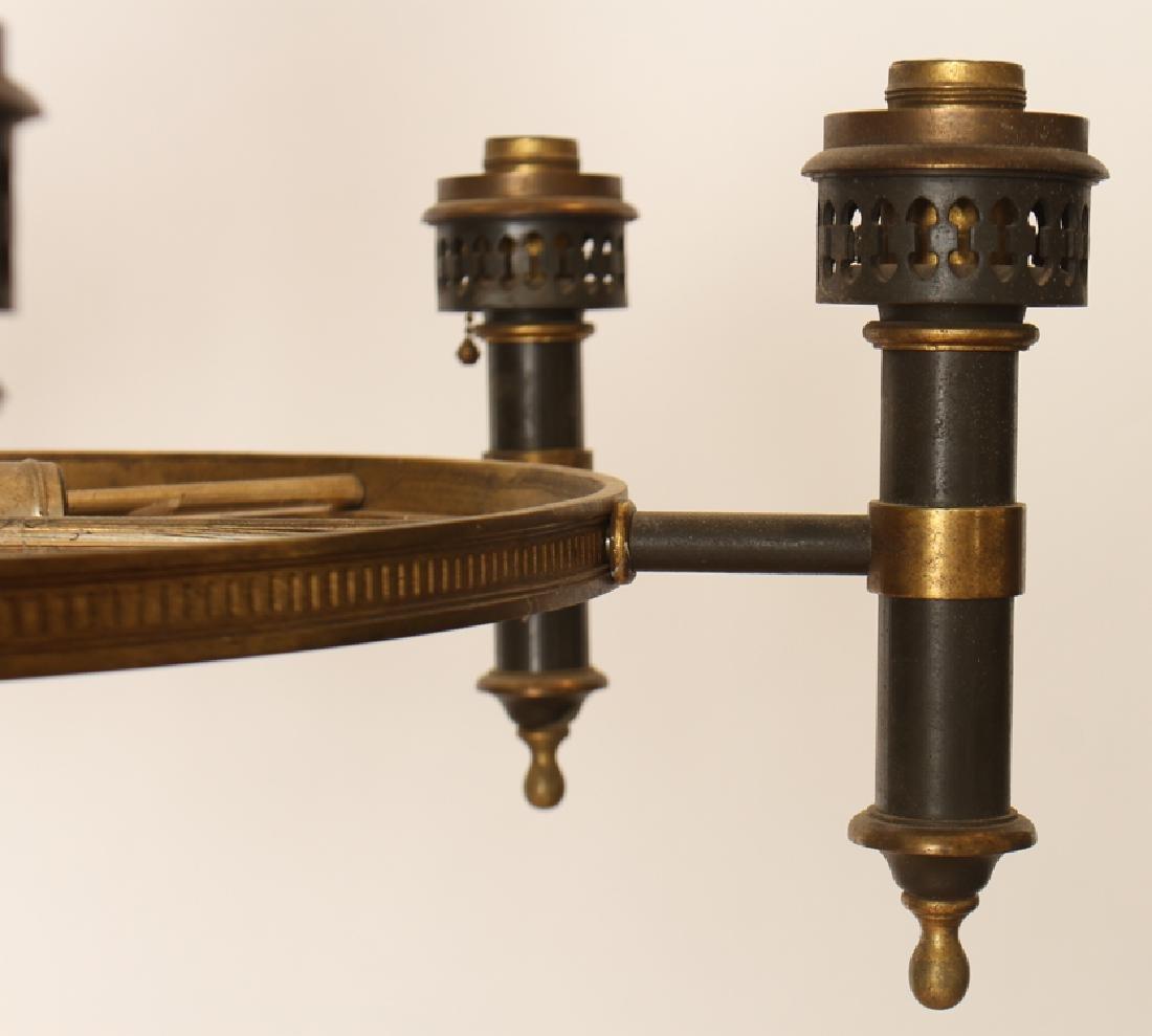 A 6 ARM IRON CHANDELIER CIRCA 1930 - 4