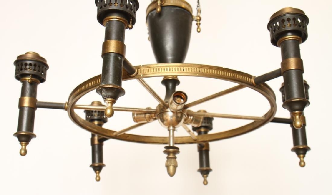 A 6 ARM IRON CHANDELIER CIRCA 1930 - 5