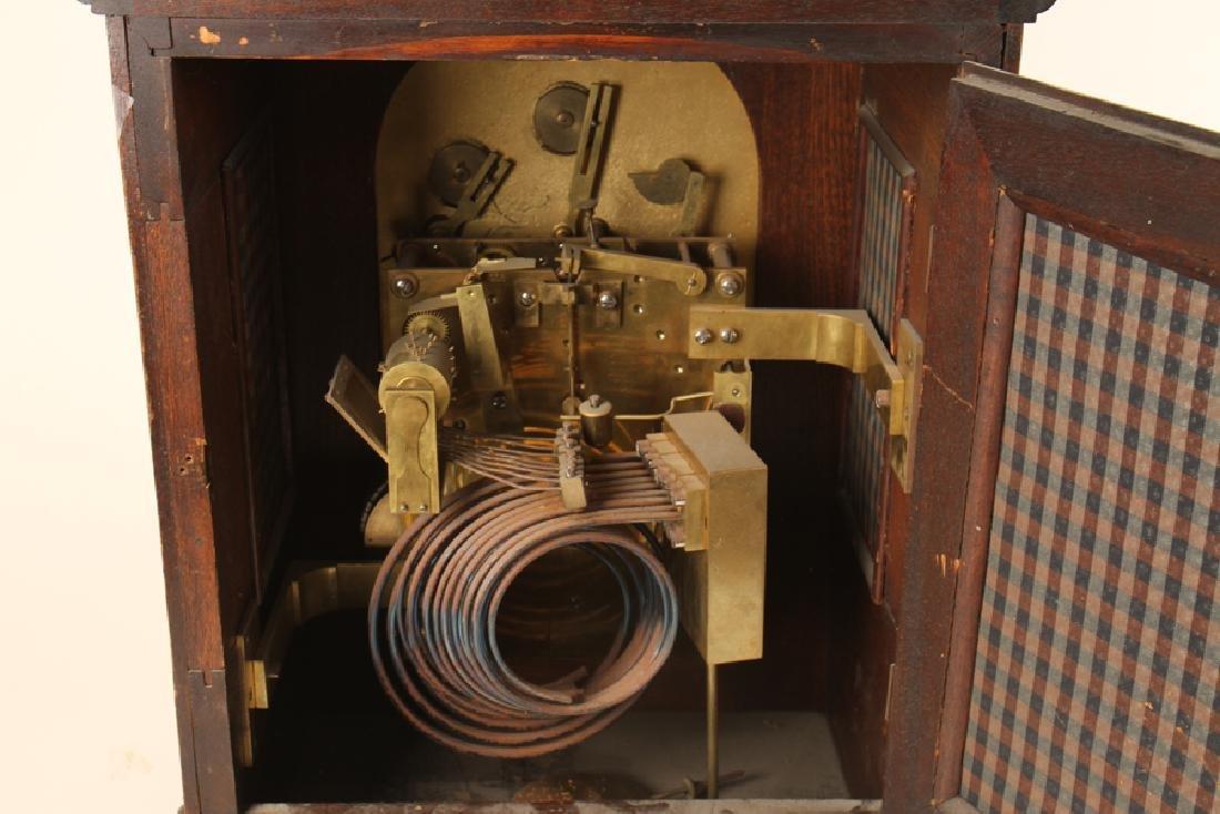 CARVED MAHOGANY BRACKET CLOCK J.E. CALDWELL C1900 - 5