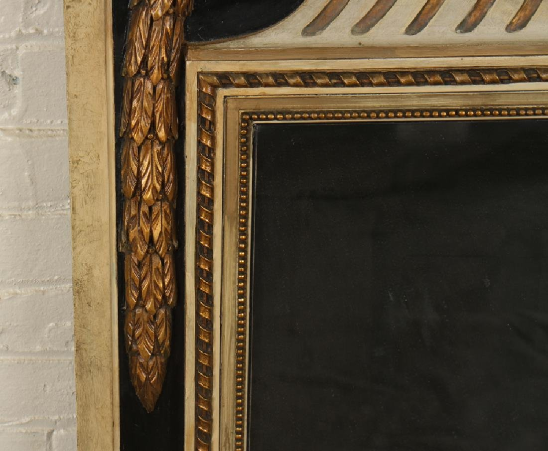 CARVED POLYCHROMED TRUMEAU MIRROR C.1940 - 3