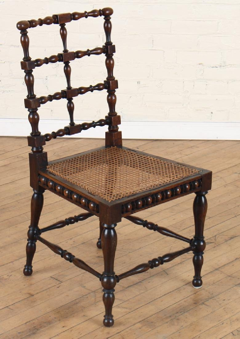 PAIR ITALIAN ROSEWOOD SPINDLE CHAIRS CIRCA 1890 - 2